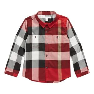 Burberry Red Camber Shirt - 12 months - Worn Once!